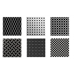 BLACK&WHITE Decor Mix 20X20 (1bal1m2)