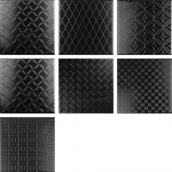 BLACK&WHITE Decor Negro 20X20 (1bal1m2)