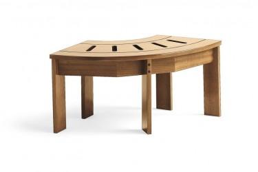 Jacuzzi Spa Okoumé dřevěný rohový díl