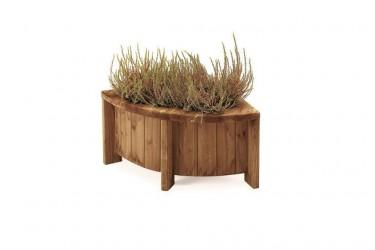 Jacuzzi Spa Okoumé dřevěný rohový díl na květiny