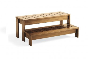 Jacuzzi Spa Okoumé dřevěné schůdky 78x60x18/36 cm