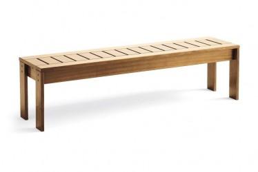 Jacuzzi Spa Okoumé dřevěná lavička vysoká 118x34x36 cm